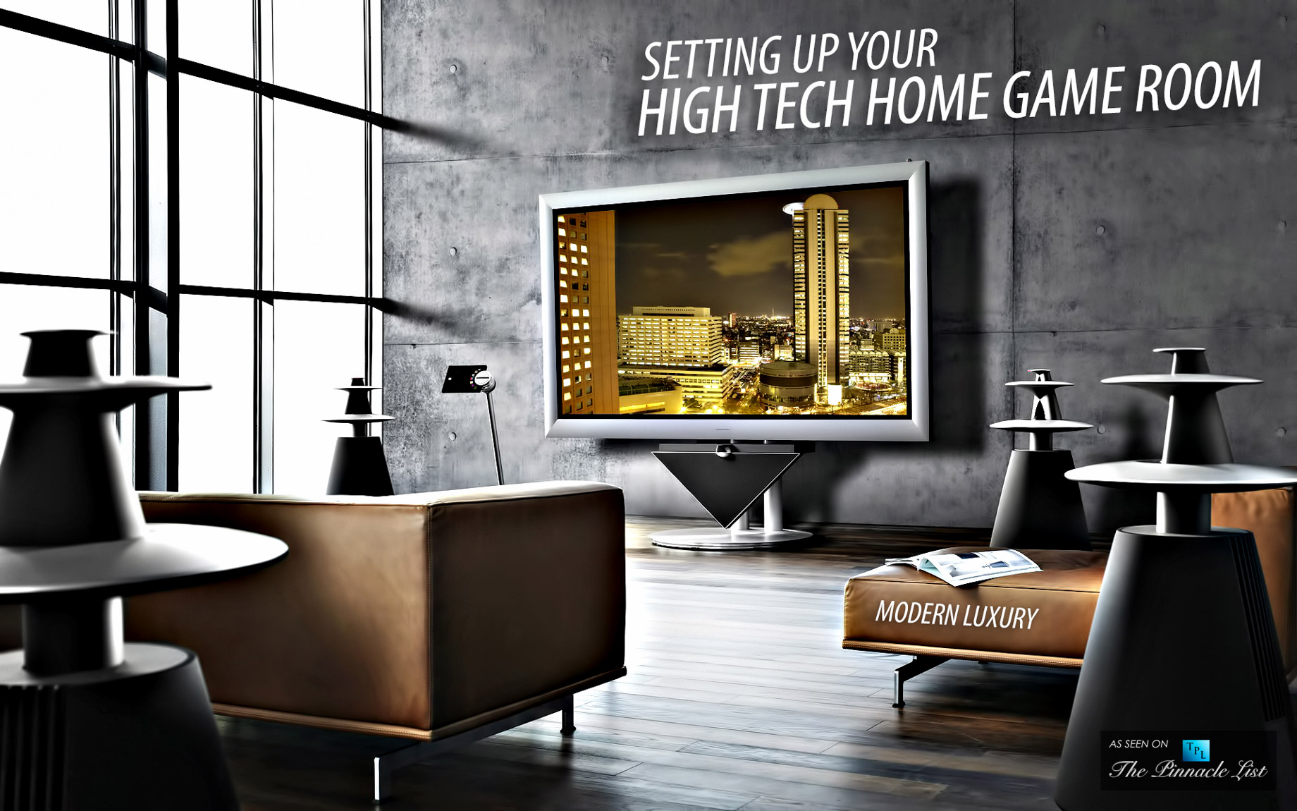 Living in Modern Luxury - Setting Up Your High-Tech Home Game Room