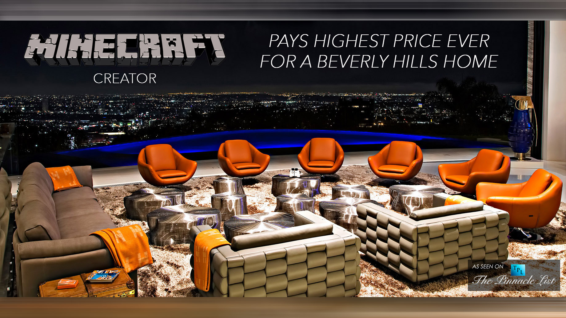 Minecraft Creator Pays $70 Million - The Highest Price Ever for a Beverly Hills Home