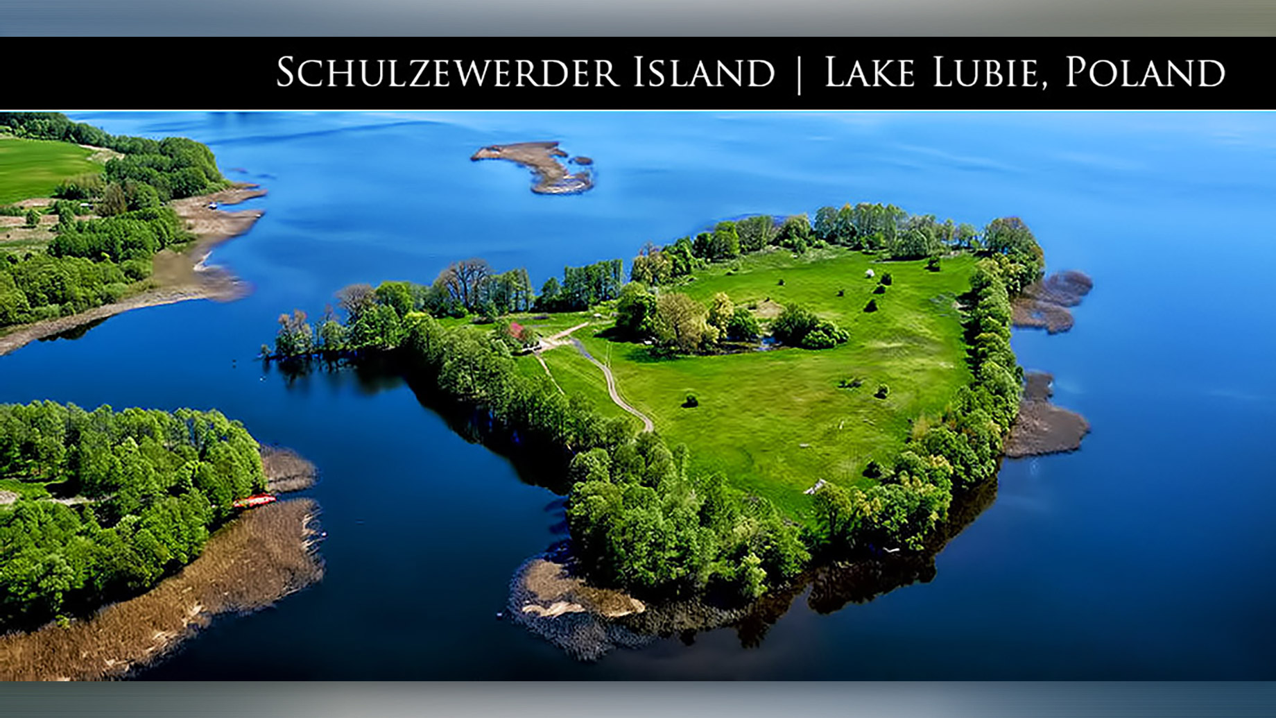 Rare Private Offering of Schulzewerder Island and Country Estate on Lake Lubie in Poland