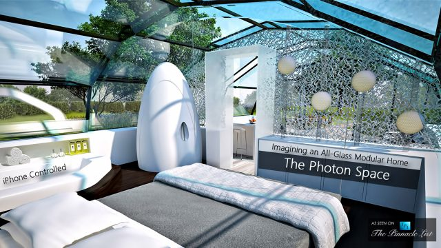 The Photon Space - Imagining an All-Glass Modular Home, Controllable with an iPhone