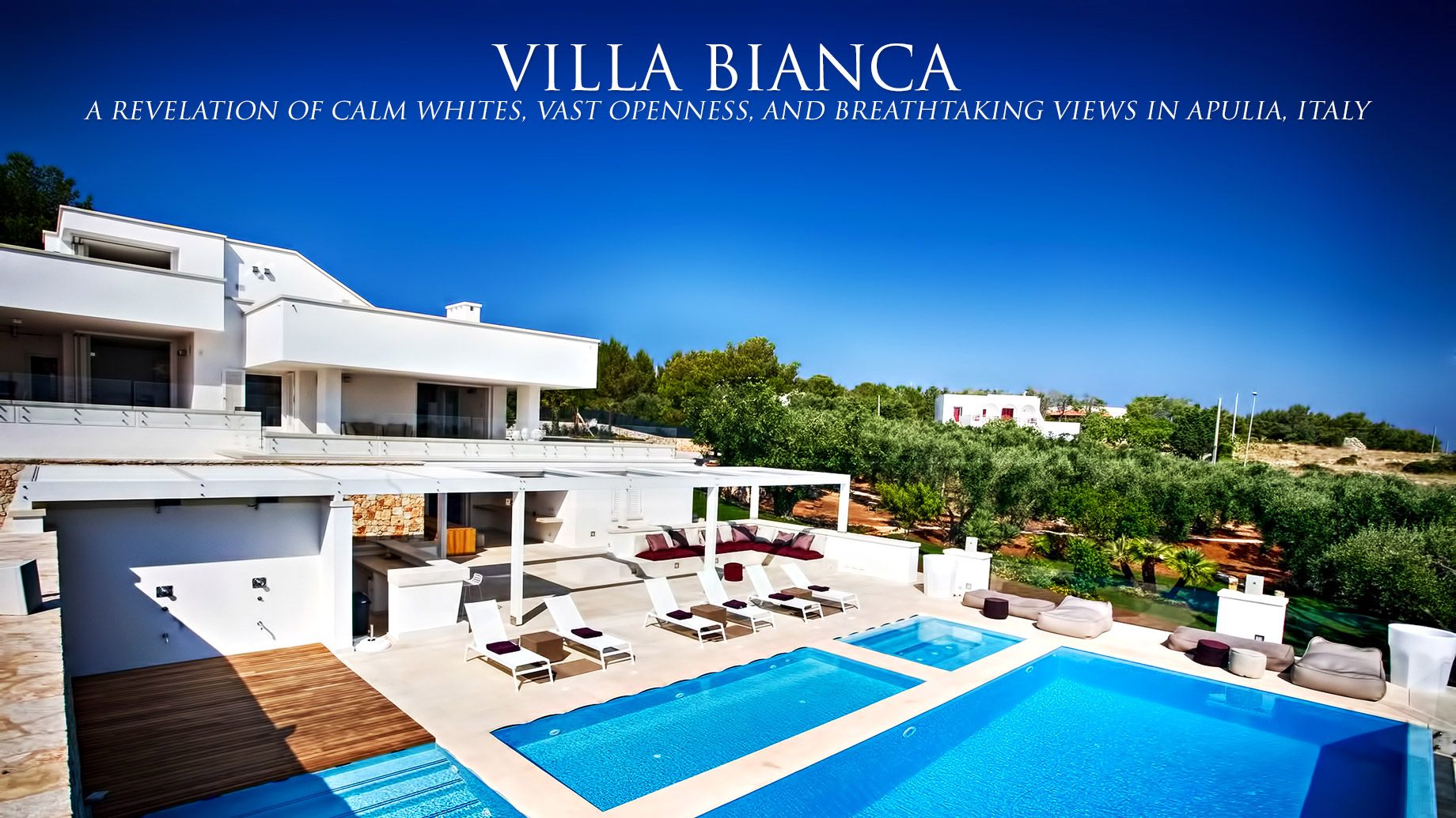 Villa Bianca - A Revelation of Calm Whites, Vast Openness, and Breathtaking Views in Apulia, Italy