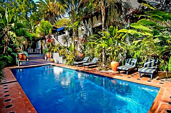 Ben Stiller's Tropical Pool Paradise at Home