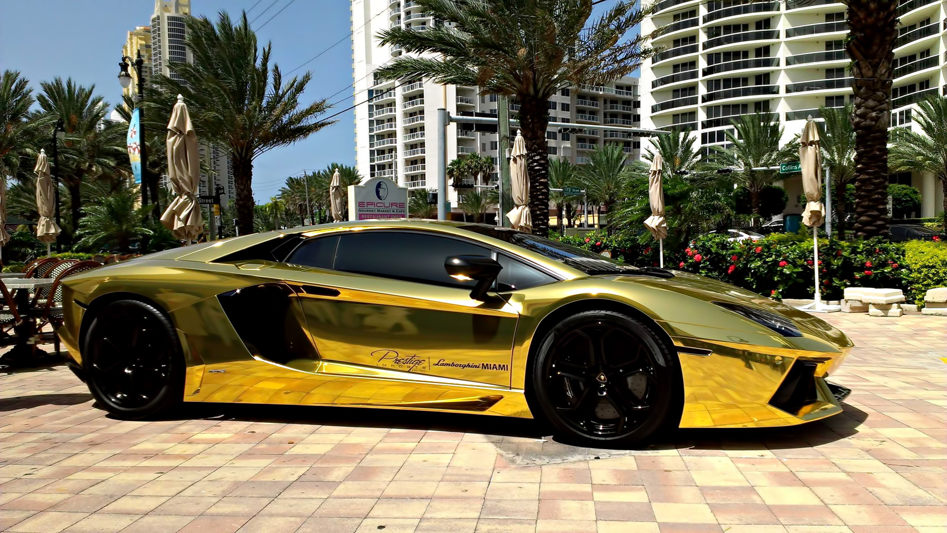 Gold Plated Lamborghini Aventador - The Top-Five Most Uber-Expensive Luxury Supercars in the World