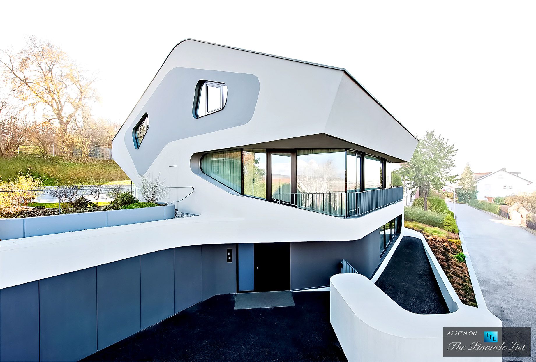 Modern Architecture at the Futuristic OLS House in Stuttgart, Germany