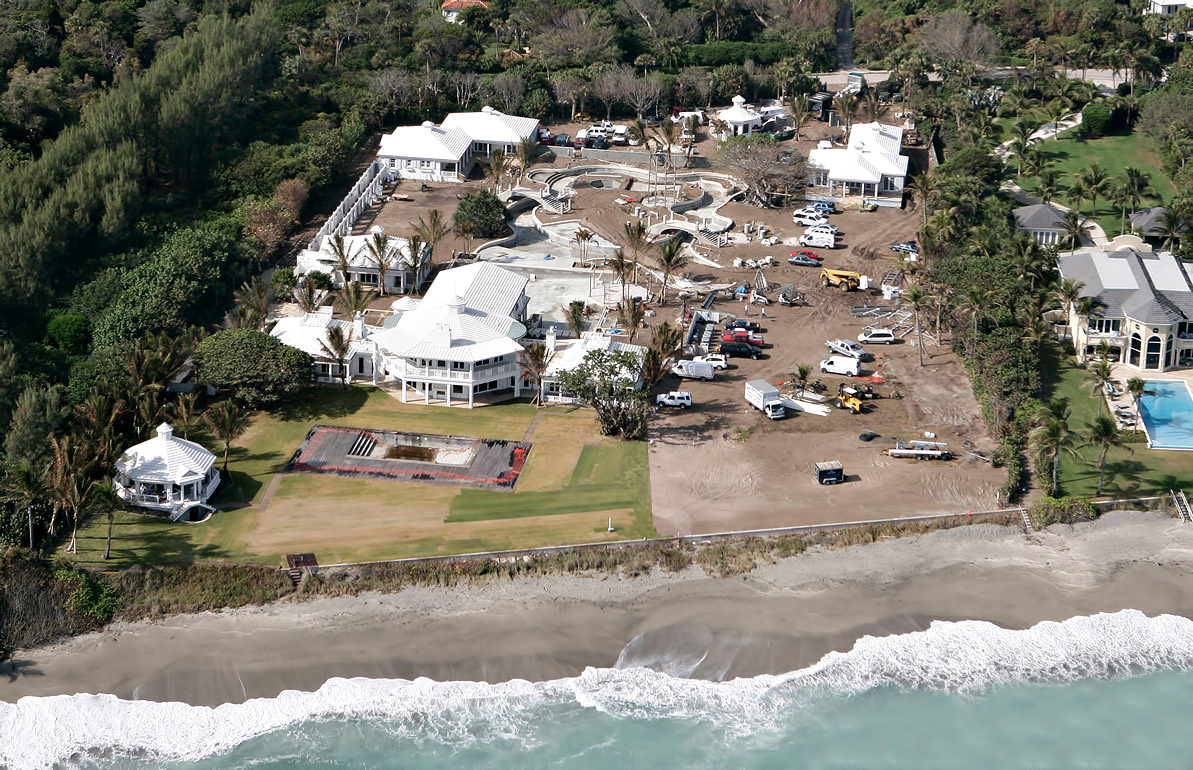 Build on a Firm Functional Foundation - Celine Dion Residence Under Construction - Jupiter Island, Florida