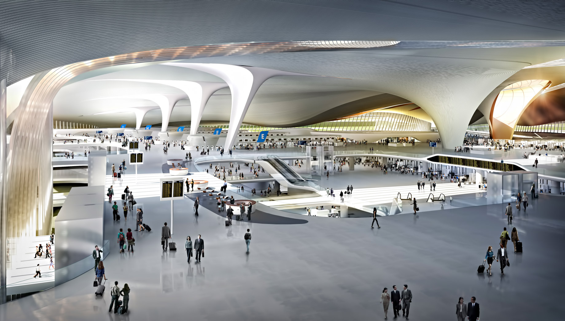 New Design of the World Largest Passenger Terminal Beijing Daxing International Airport