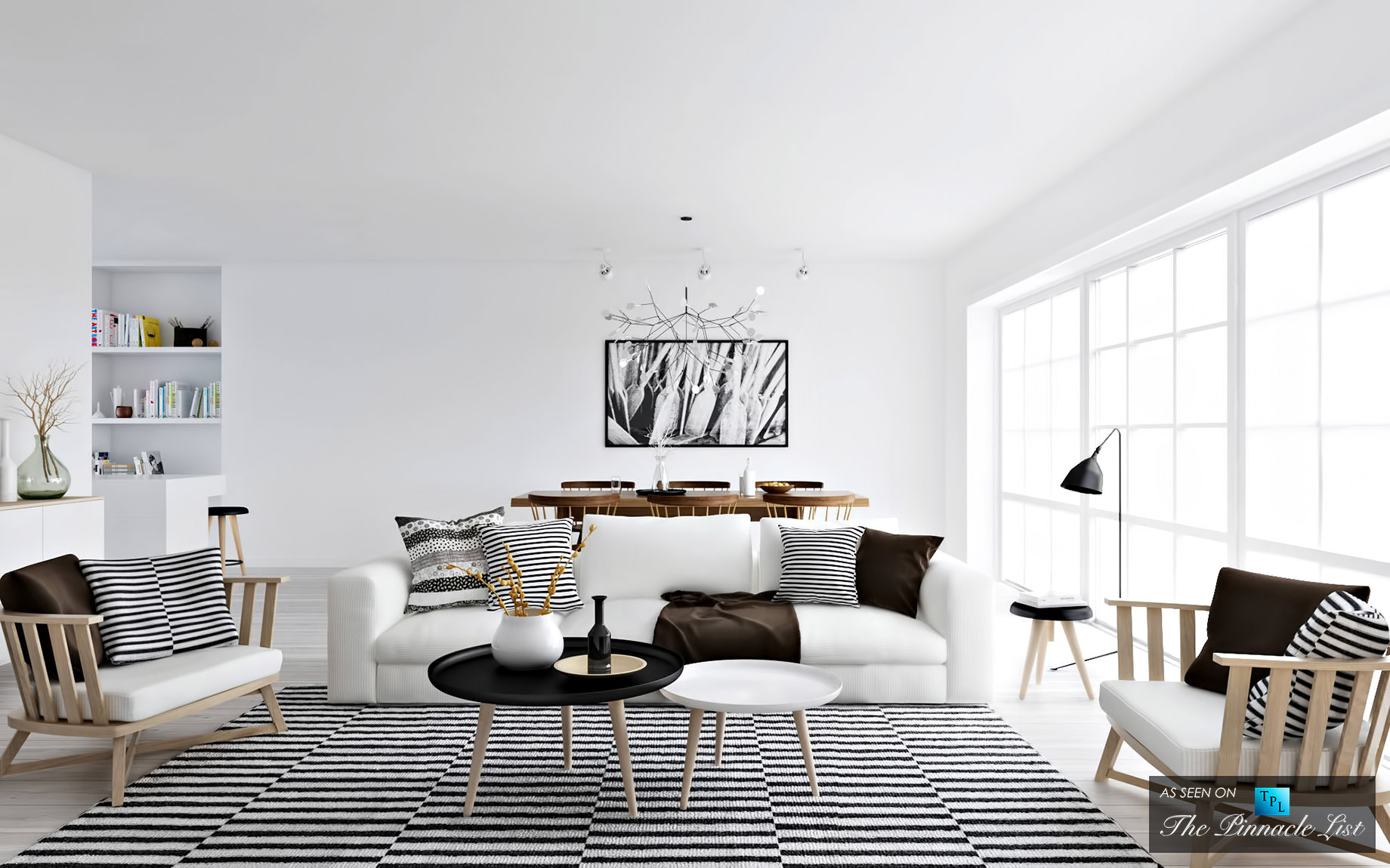 Scandinavian Super White - Luxury West Coast Design Trends that Make Your Home Into a Multicultural Melting Pot