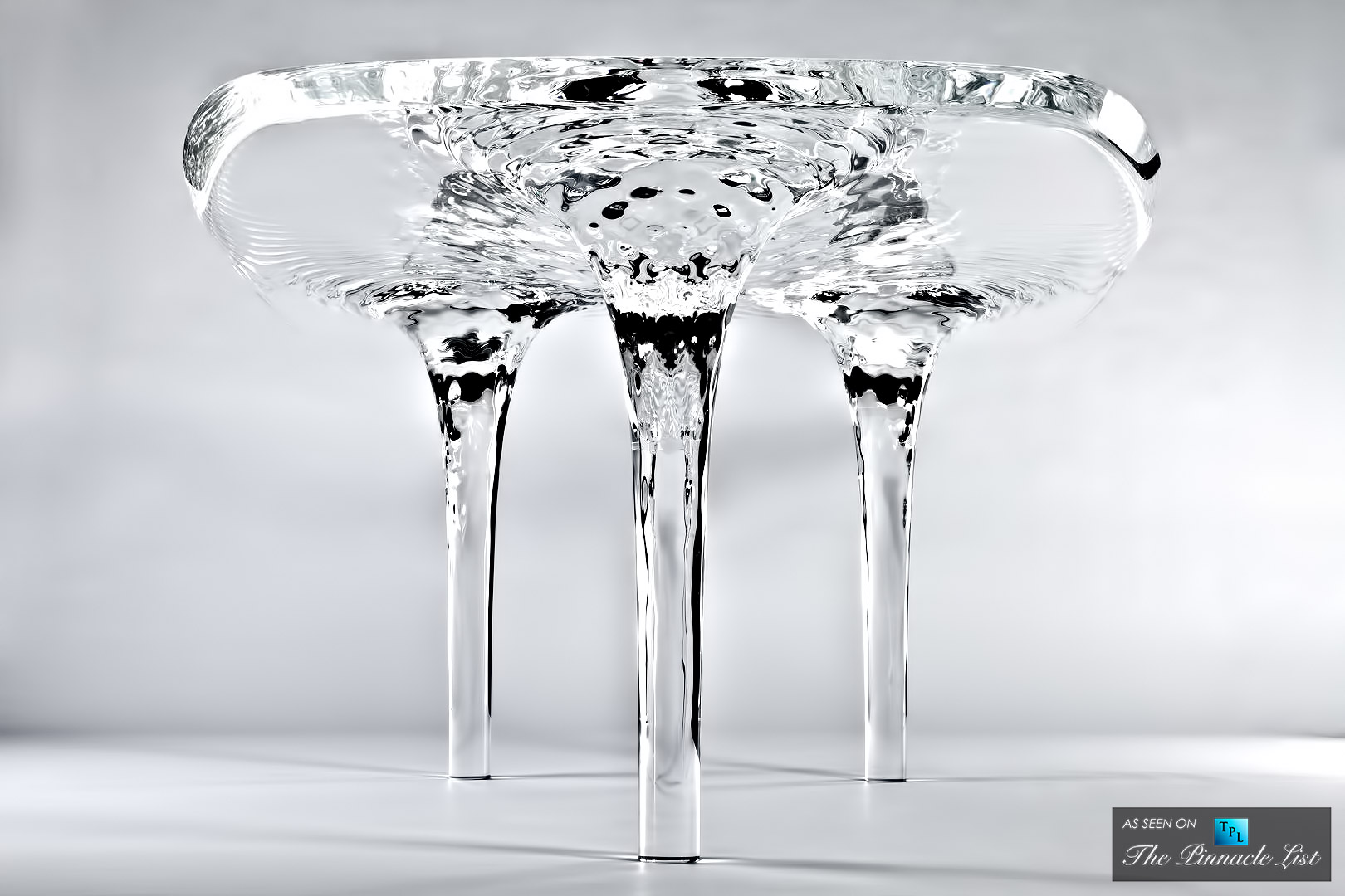 $250,000 Luxury Equilibrium – Spotlighting the Liquid Glacial Dining Table by Zaha Hadid