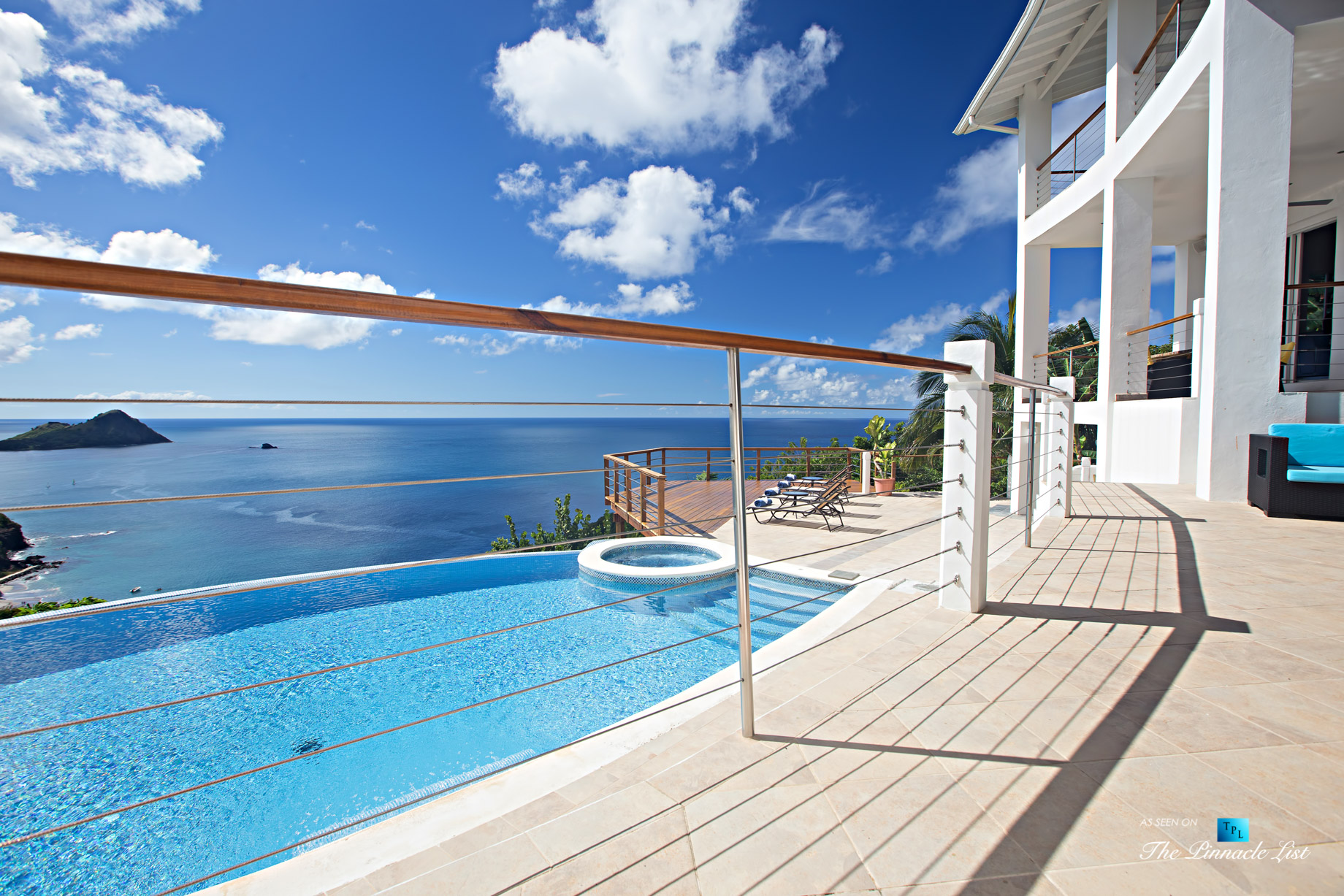 Akasha Luxury Caribbean Villa – Cap Estate, St. Lucia – Infinity Pool and Hot Tub View – Luxury Real Estate – Premier Oceanview Home