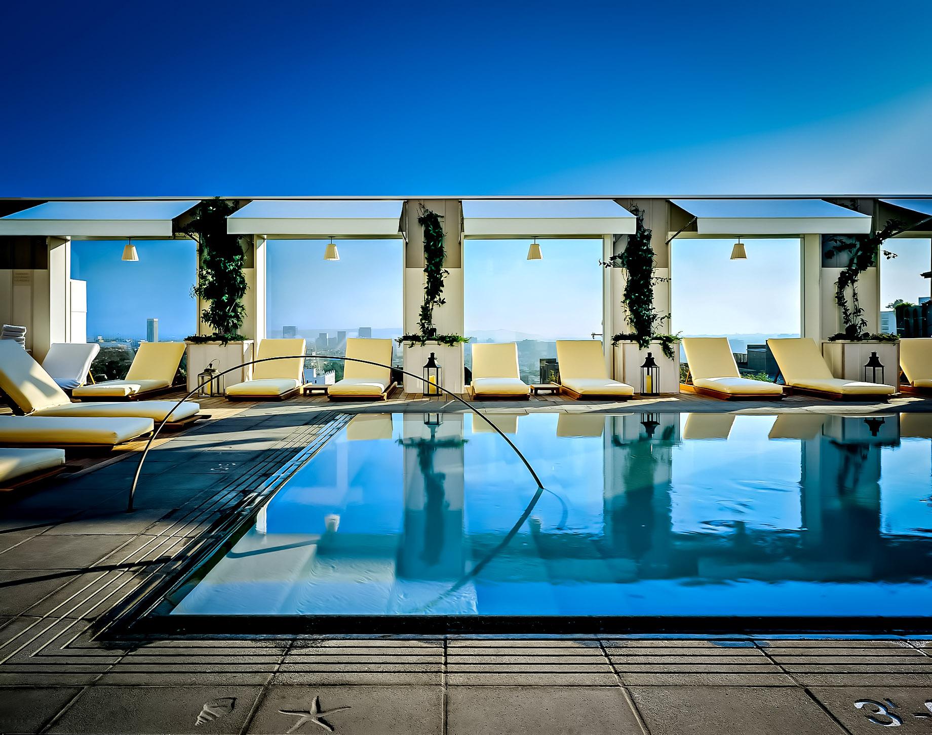 Mondrian Los Angeles Hotel Skybar Rooftop Pool
