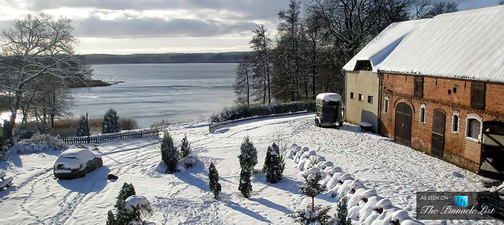 Schulzewerder Island and Country Estate on Lake Lubie in Poland