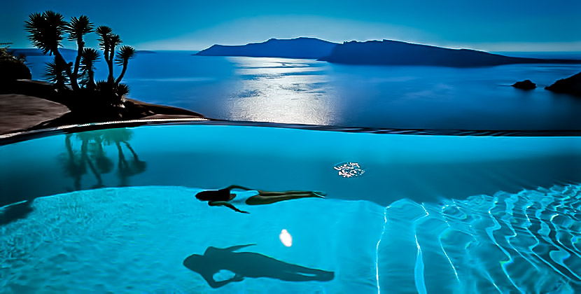 Perivolas Luxury Hotel Infinity Pool in Santorini, Greece