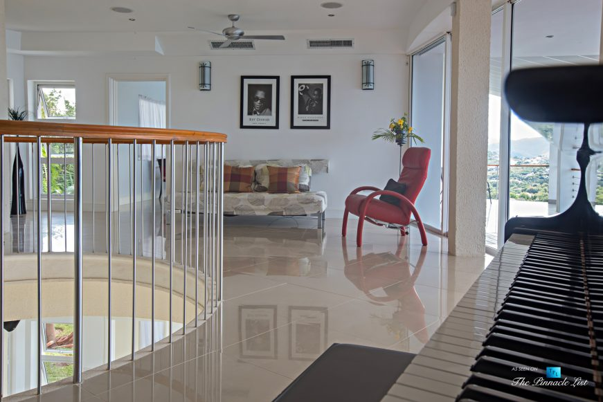 Akasha Luxury Caribbean Villa - Cap Estate, St. Lucia - Upper Family Room - Luxury Real Estate - Premier Oceanview Home