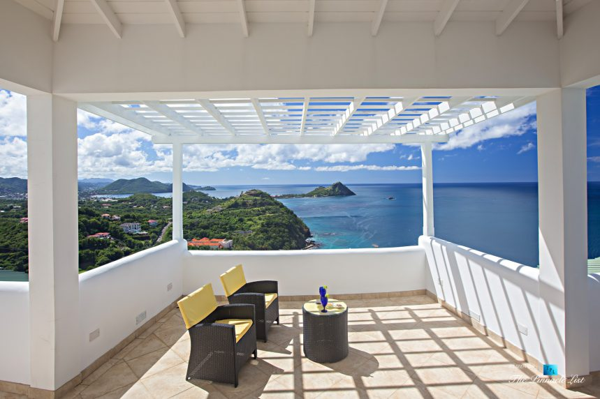 Akasha Luxury Caribbean Villa - Cap Estate, St. Lucia - Private Deck View - Luxury Real Estate - Premier Oceanview Home