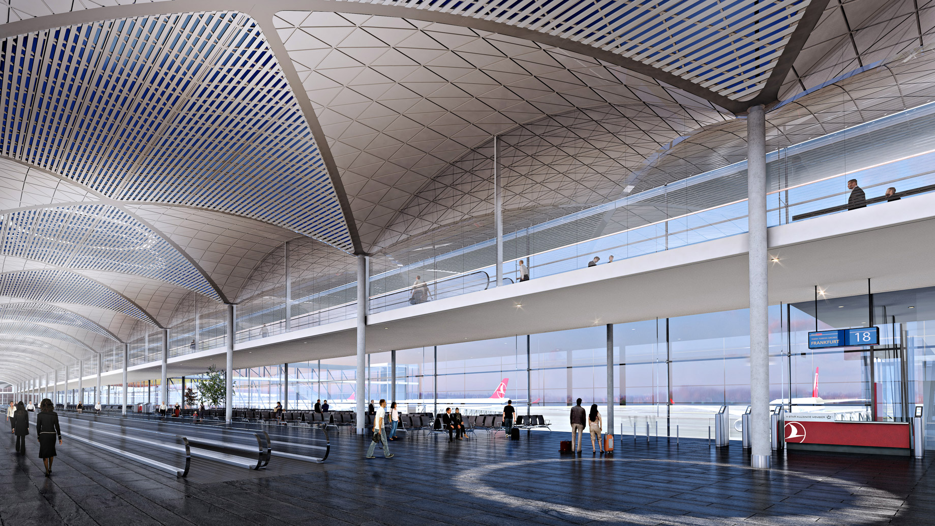 Departures - New International Airport in Istanbul, Turkey will be a Modern Architectural Masterpiece