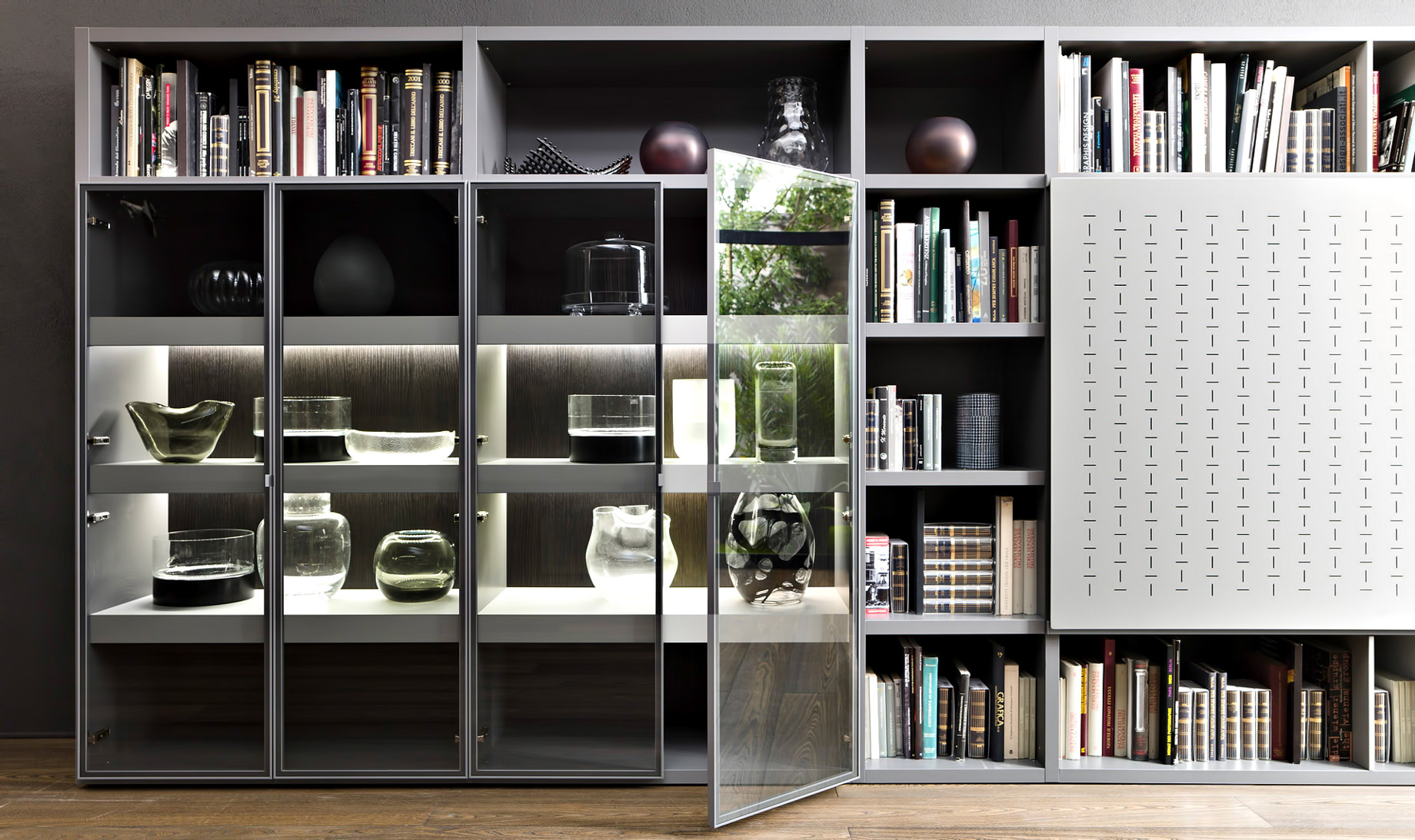 Luxury Home Trends - Glass Door Cabinets and Bookcases
