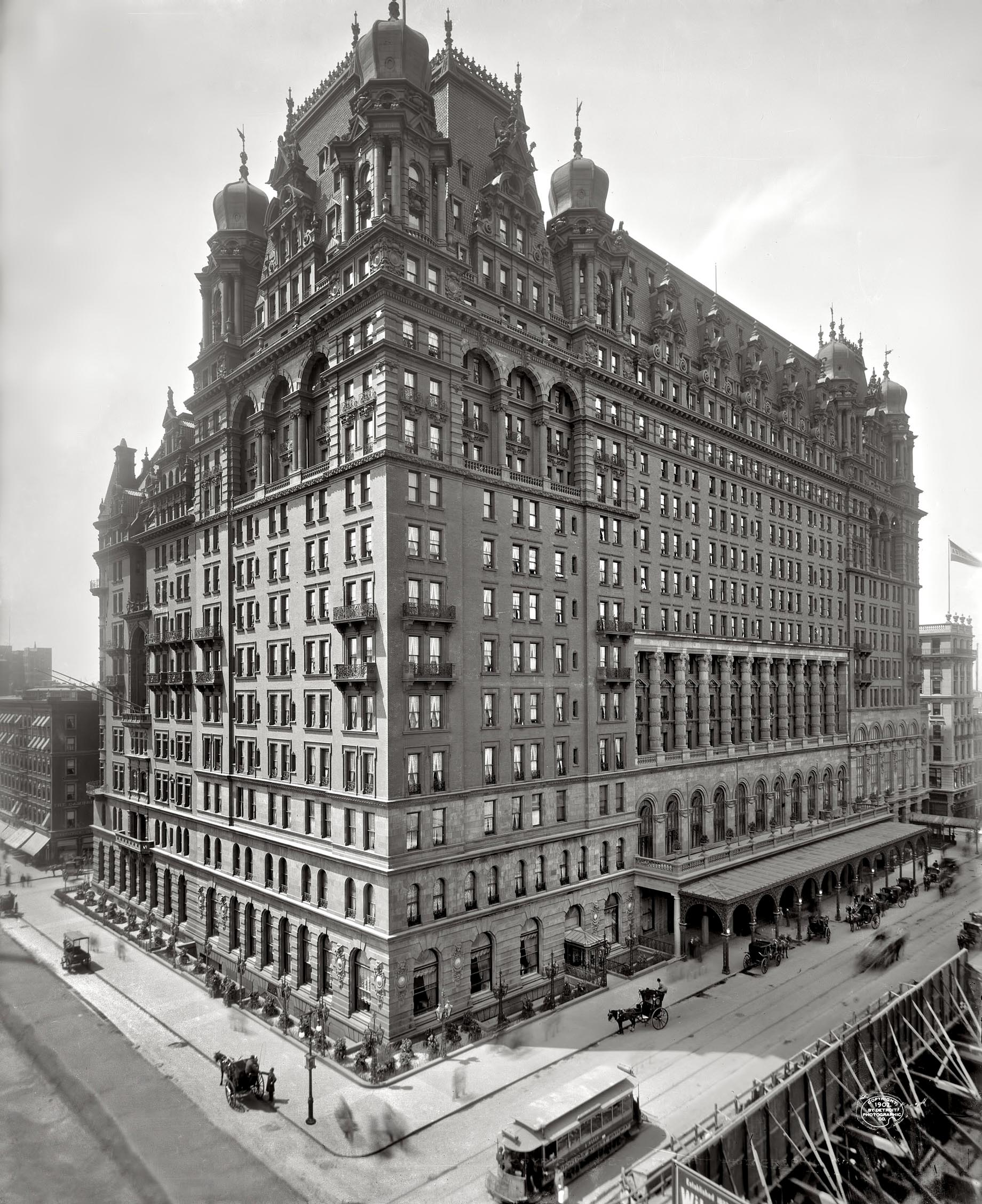 Waldorf Astoria New York - Original Hotel 34th Street and Fifth Avenue View 1902