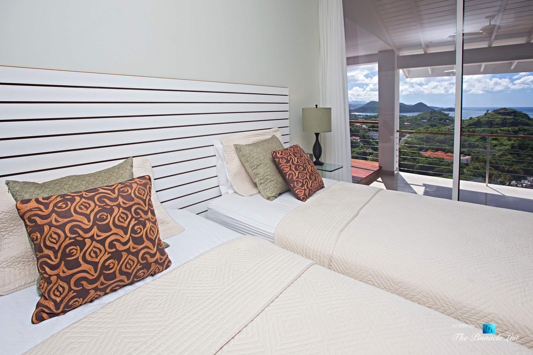 Akasha Luxury Caribbean Villa – Cap Estate, St. Lucia – Bedroom with Ocean View – Luxury Real Estate – Premier Oceanview Home