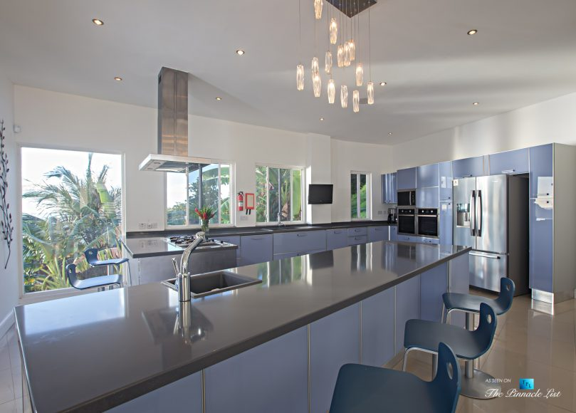 Akasha Luxury Caribbean Villa - Cap Estate, St. Lucia - Kitchen - Luxury Real Estate - Premier Oceanview Home