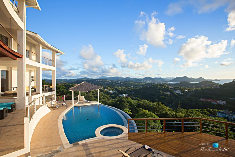 Akasha Luxury Caribbean Villa - Cap Estate, St. Lucia - Infinity Pool and Deck View - Luxury Real Estate - Premier Oceanview Home
