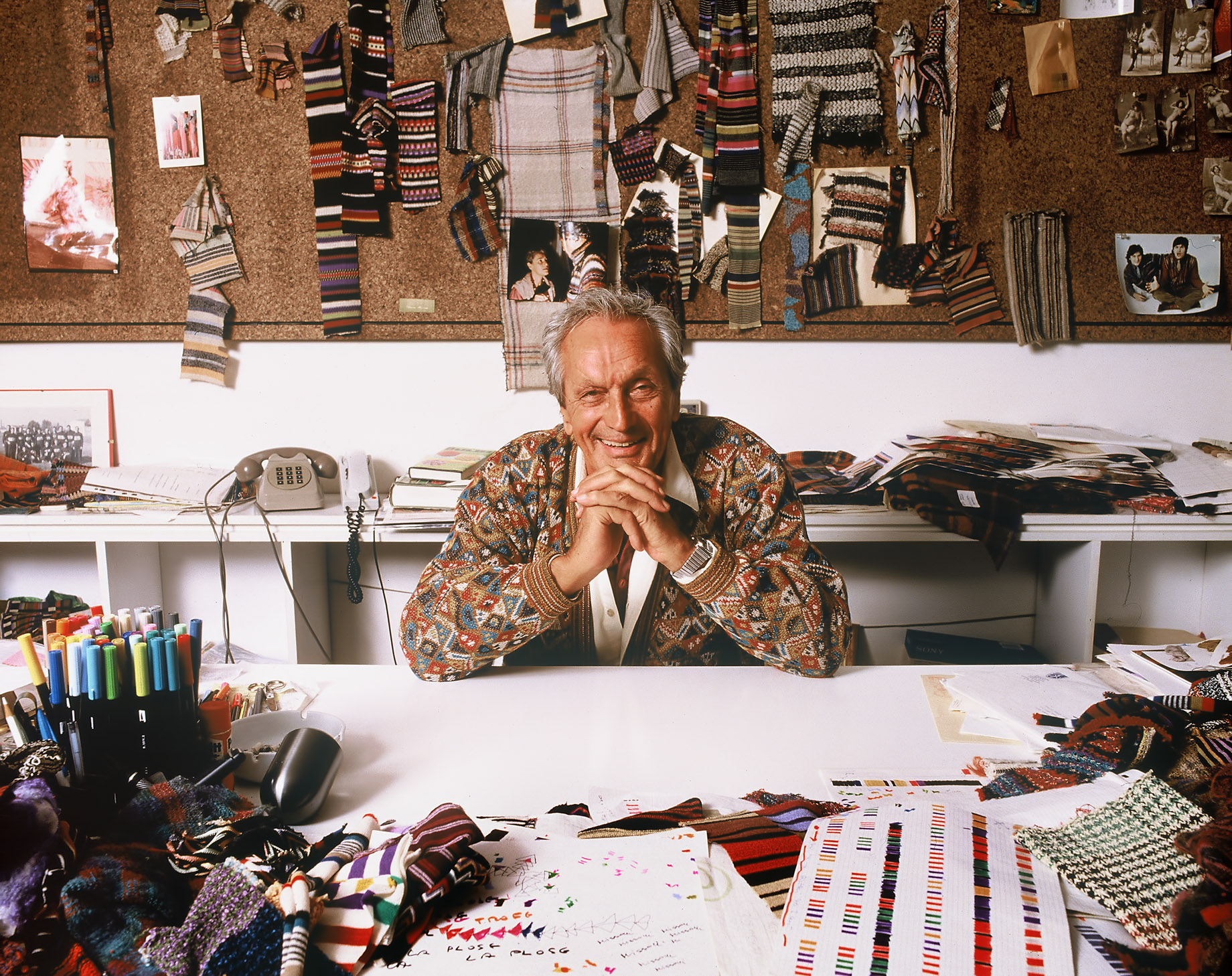 Ottavio Missoni Designing Tapestries and Rugs - Missoni Baia Miami Residences Heritage