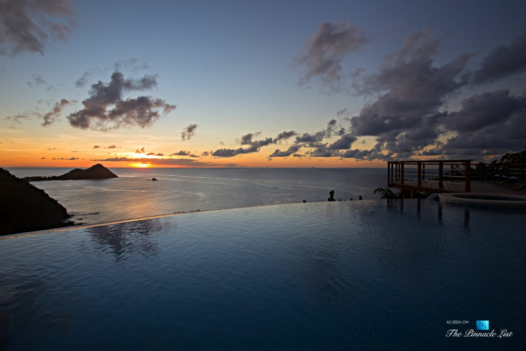 Akasha Luxury Caribbean Villa - Cap Estate, St. Lucia - Infinity Pool Sunset View - Luxury Real Estate - Premier Oceanview Home