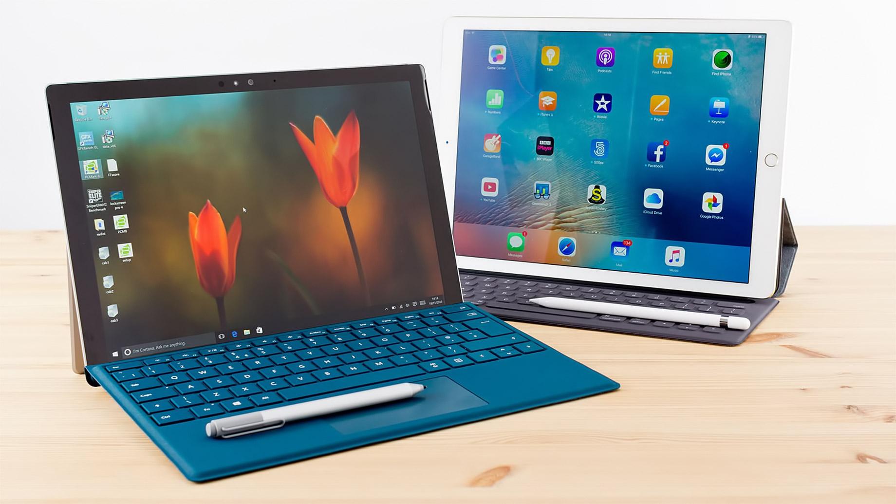 Global Wanderlust - High Tech Travel Gadgets for the World Explorer - Microsoft Surface Pro 4 - iPad Pro