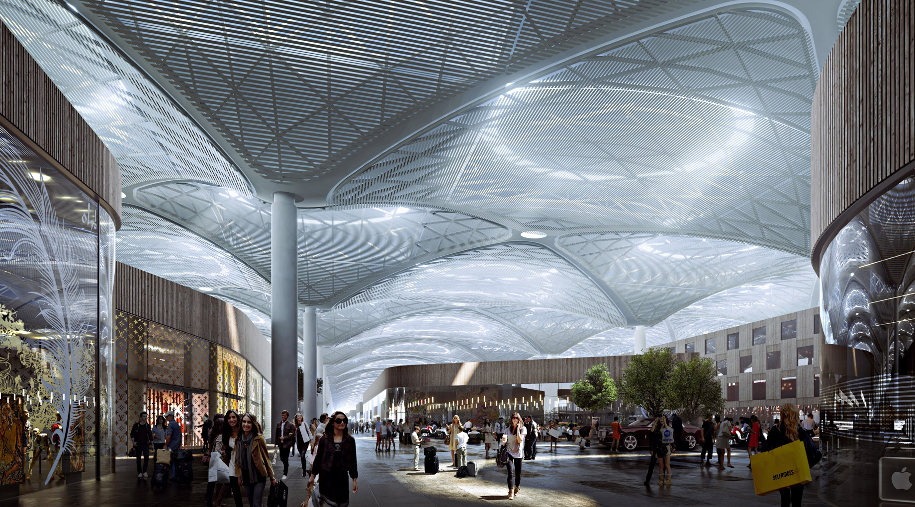 Retail Area - New International Airport in Istanbul, Turkey will be a Modern Architectural Masterpiece