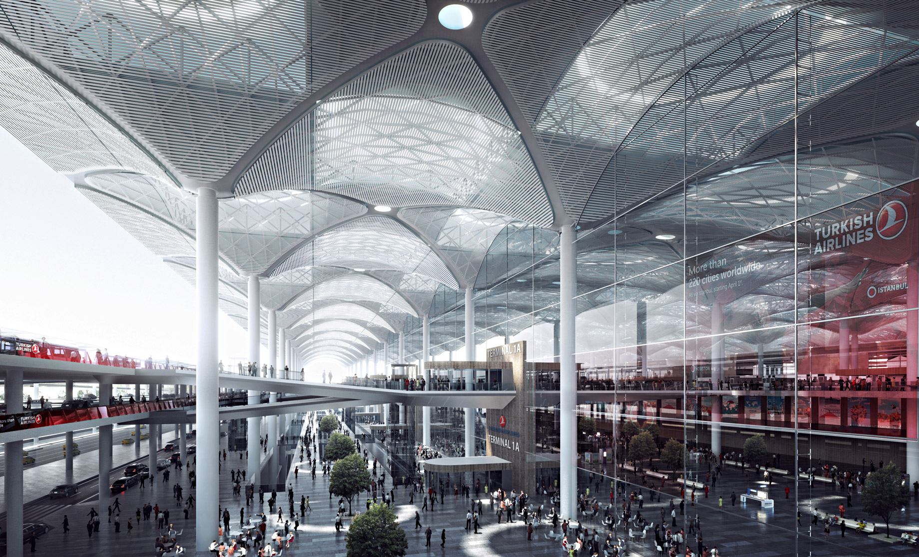 Airside - New International Airport in Istanbul, Turkey will be a Modern Architectural Masterpiece