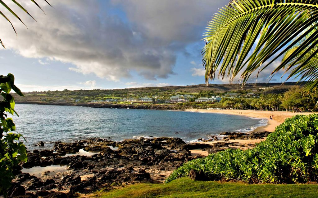 Beach View of Luxury Four Seasons Resort - Lanai, Hawaii - The Most Expensive Private Island Real Estate Transaction in History