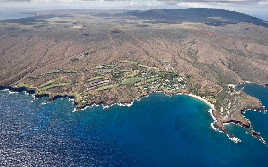 Aerial View of Lanai, Hawaii - The Most Expensive Private Island Real Estate Transaction in History