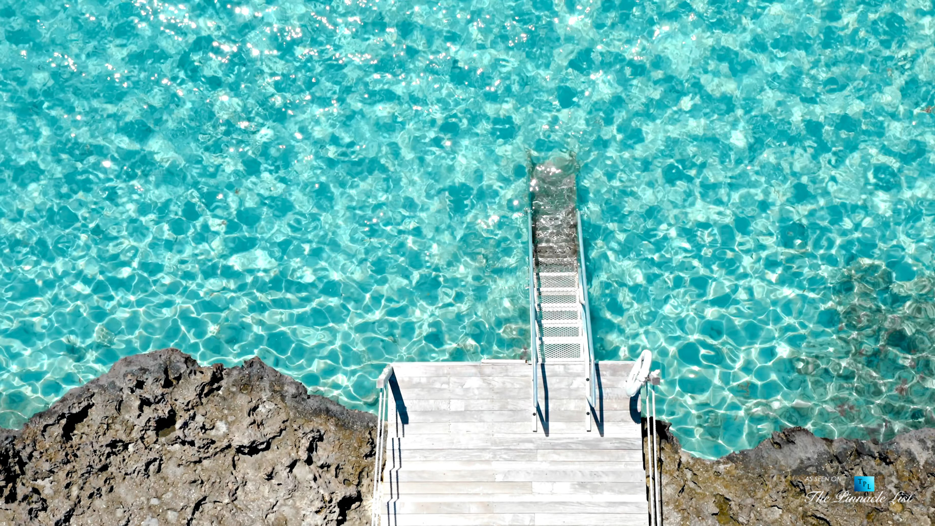 Tip of the Tail Villa – Providenciales, Turks and Caicos Islands – Turquoise Caribbean Waters Dock – Luxury Real Estate – South Shore Peninsula Home