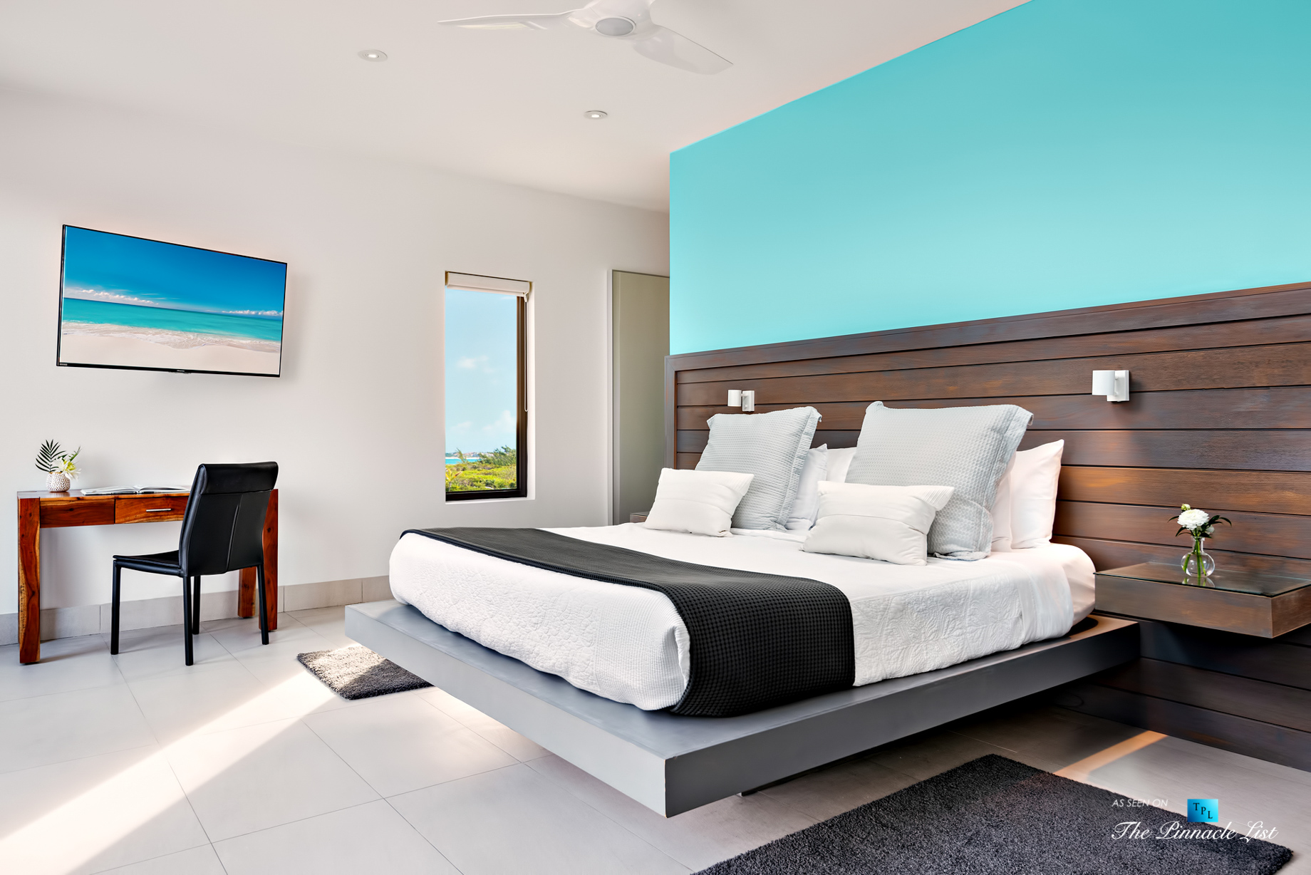 Tip of the Tail Villa - Providenciales, Turks and Caicos Islands - Caribbean House Bedroom - Luxury Real Estate - South Shore Peninsula Home