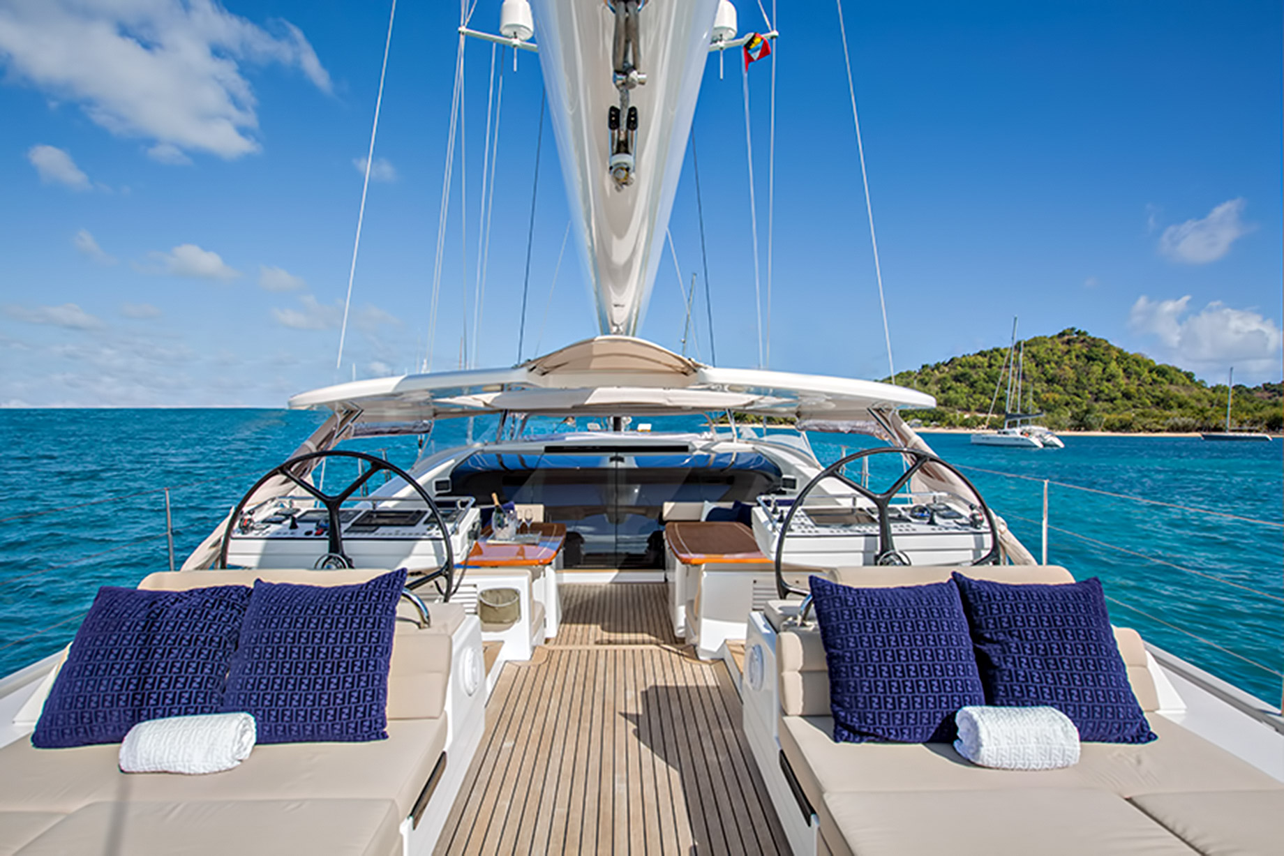 Spacious Deck Area – Oyster 100 Penelope – Step Inside A Luxury British Sailing Yacht