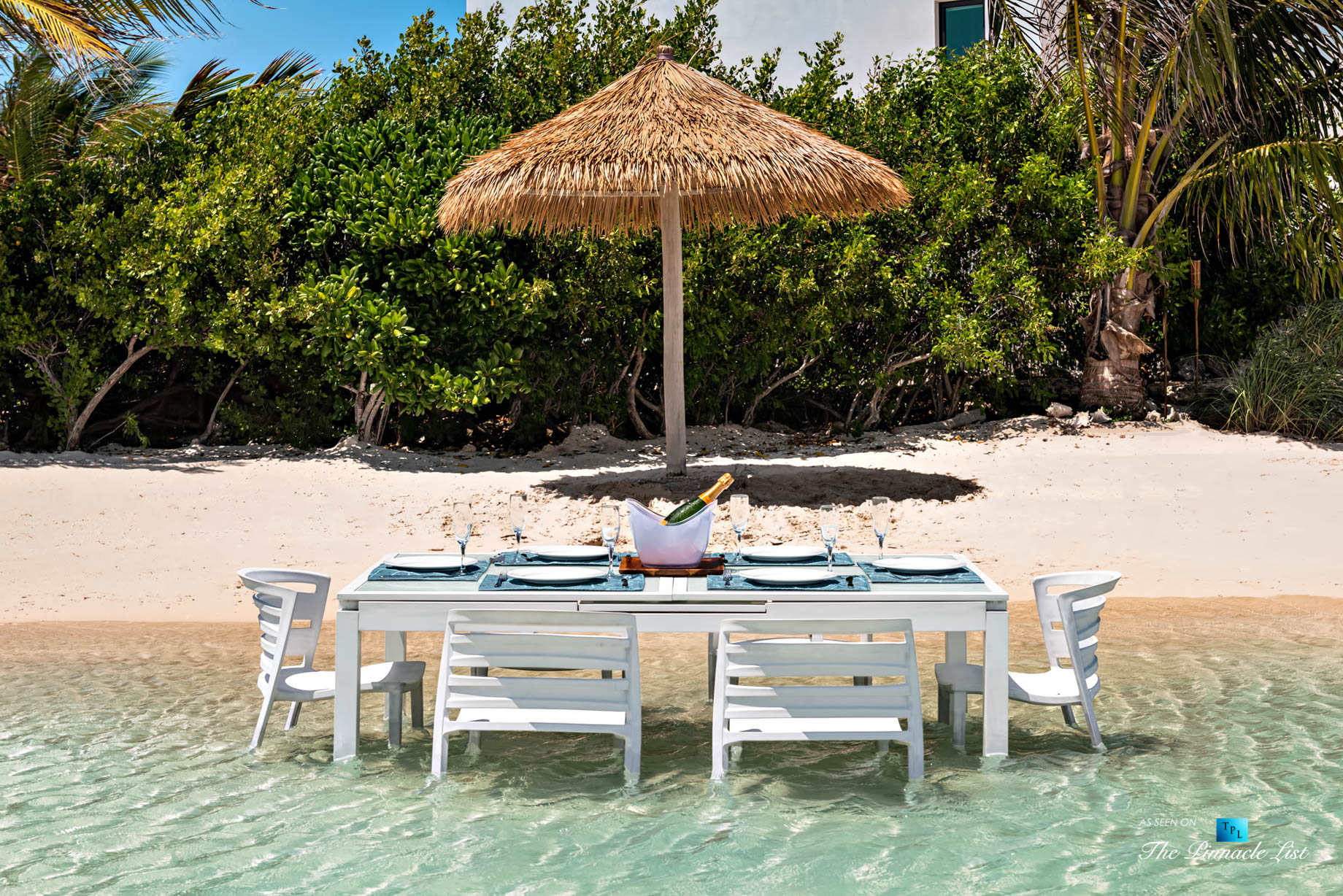 Tip of the Tail Villa - Providenciales, Turks and Caicos Islands - Caribbean Villa Private Beach Table - Luxury Real Estate - South Shore Peninsula Home