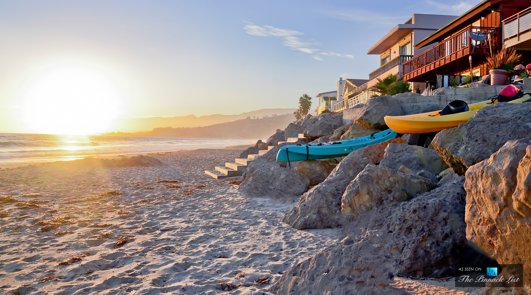 Beachside Living in Malibu - California Coastal Lifestyle of Sun Sand and Surf