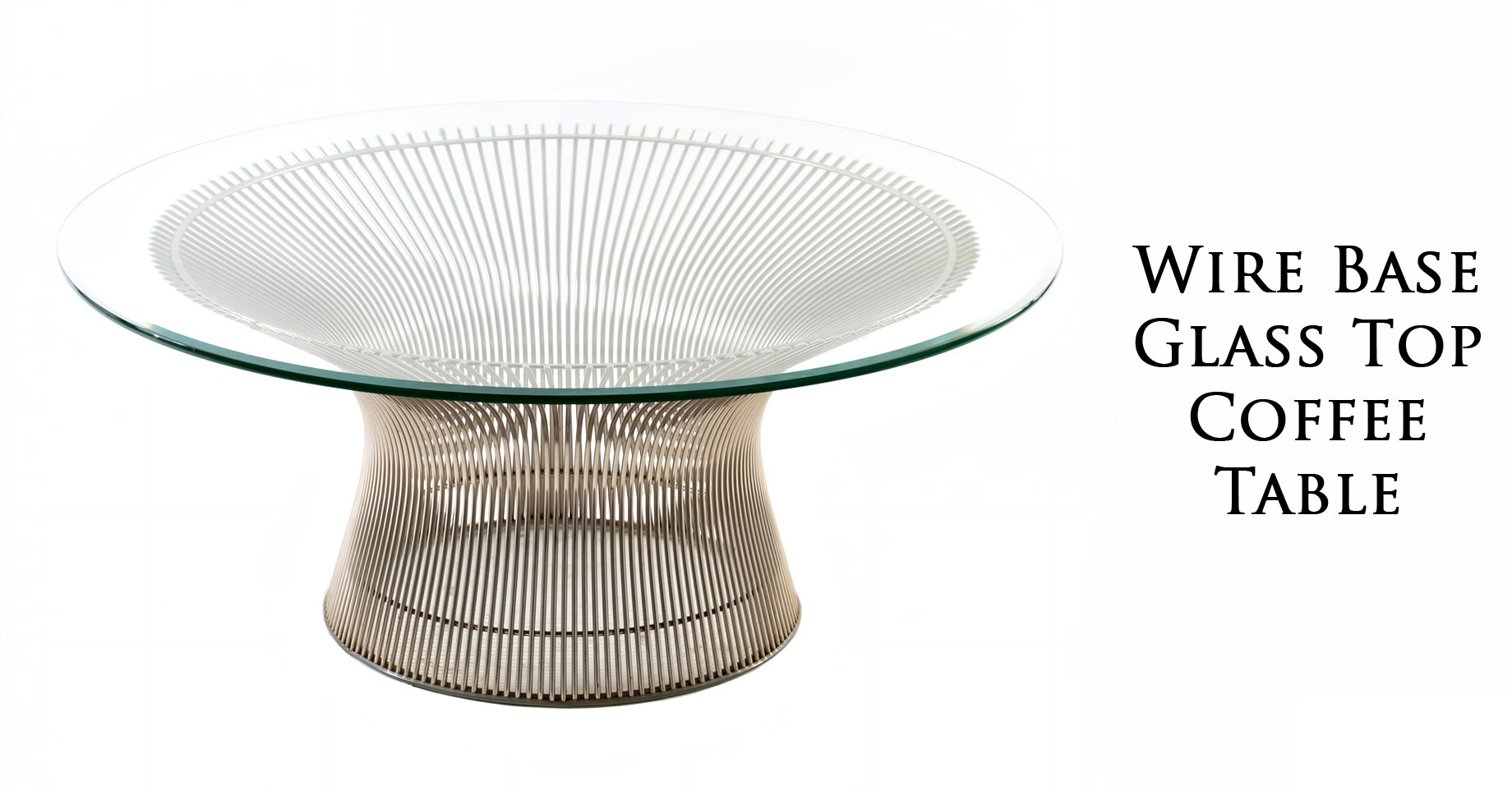 Wire Base Glass Coffee Table