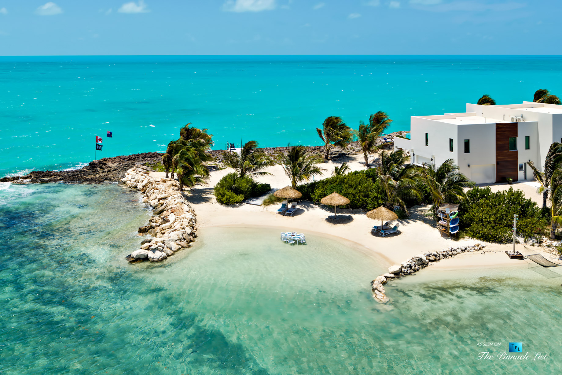 Tip of the Tail Villa – Providenciales, Turks and Caicos Islands – Caribbean Villa Private Beach – Luxury Real Estate – South Shore Peninsula Home