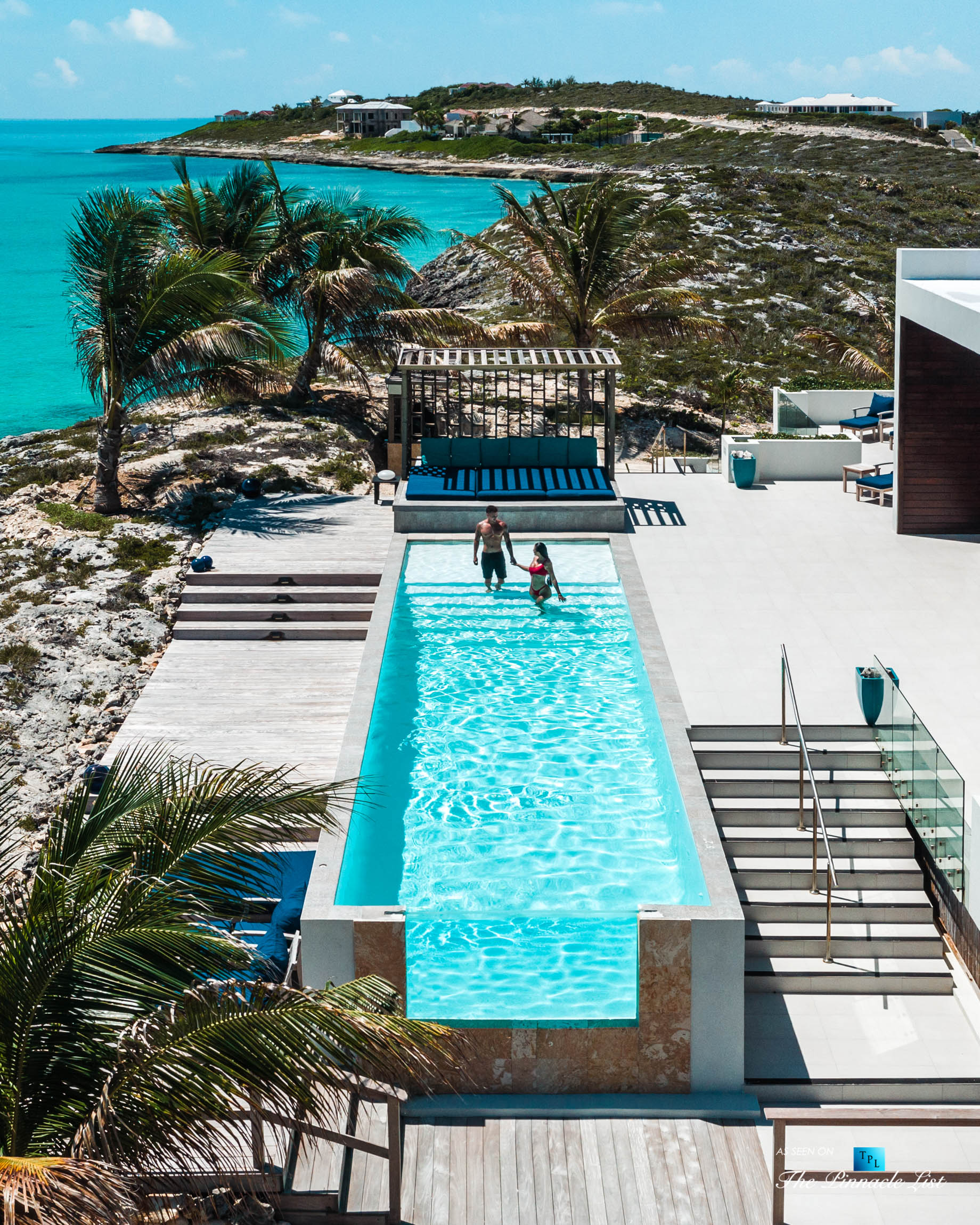 Tip of the Tail Villa - Providenciales, Turks and Caicos Islands - Caribbean Villa Private Infinity Pool - Luxury Real Estate - South Shore Peninsula Home