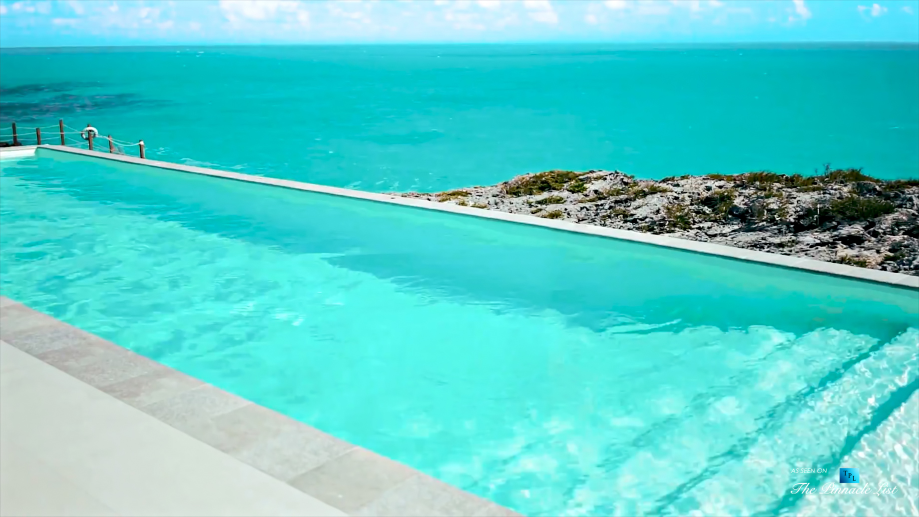 Tip of the Tail Villa - Providenciales, Turks and Caicos Islands - Caribbean Villa Oceanfront Infinity Pool - Luxury Real Estate - South Shore Peninsula Home