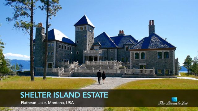 American Castle - Shelter Island Estate - Flathead Lake, Montana - Luxury Real Estate - Remastered - Video