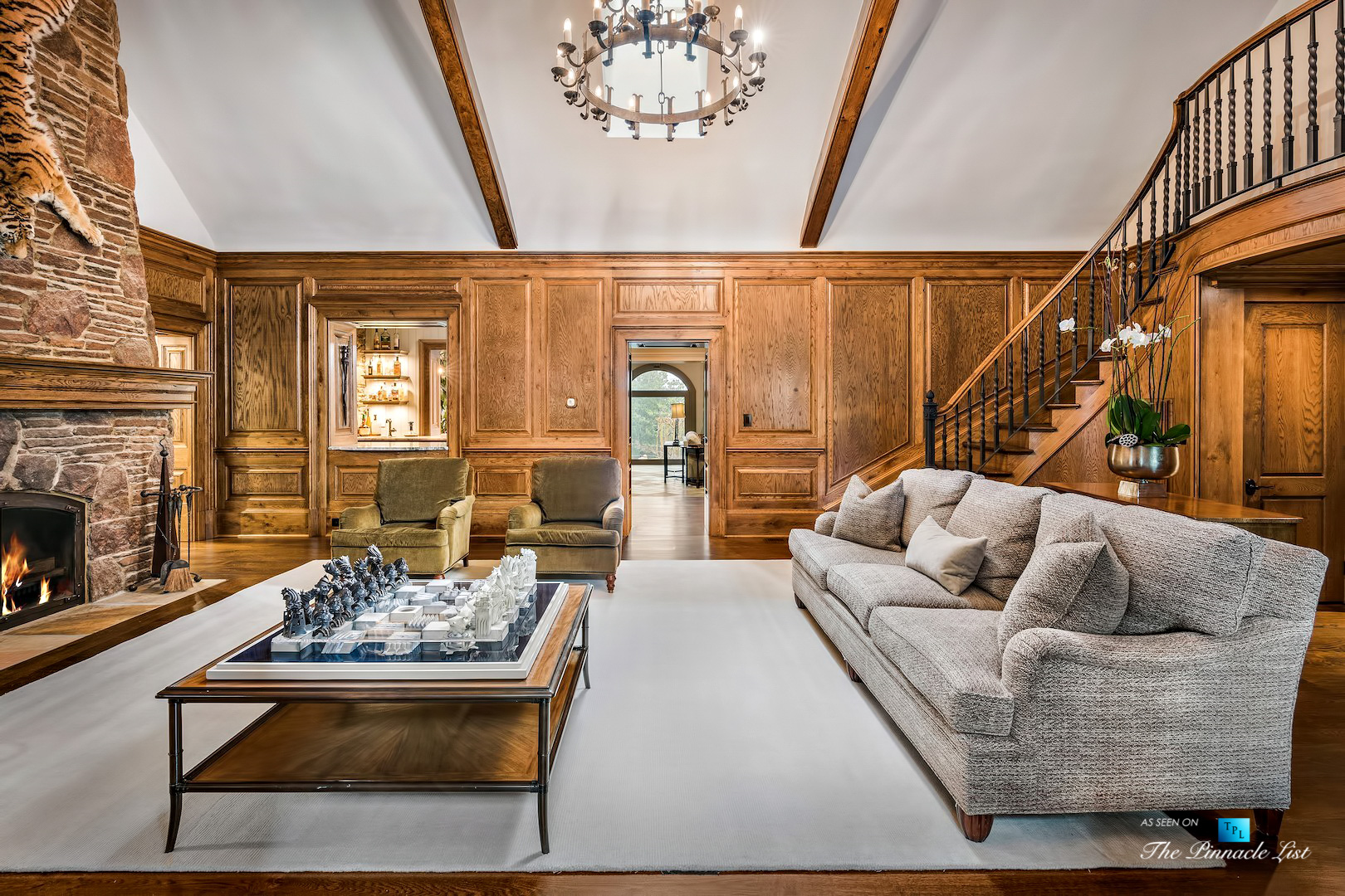 75 Finch Forest Trail, Atlanta, GA, USA – Sitting Area and Staircase – Luxury Real Estate – Sandy Springs Home