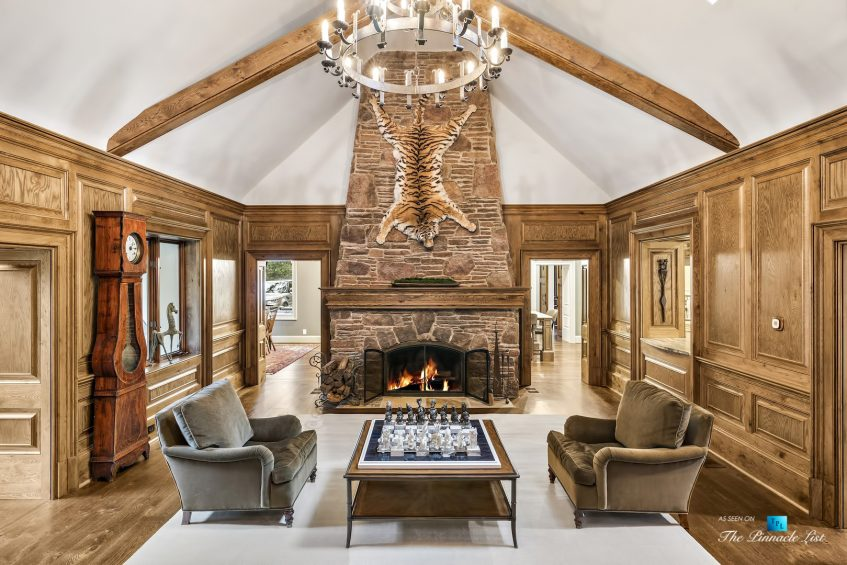 75 Finch Forest Trail, Atlanta, GA, USA - Living Room Fireplace - Luxury Real Estate - Sandy Springs Home