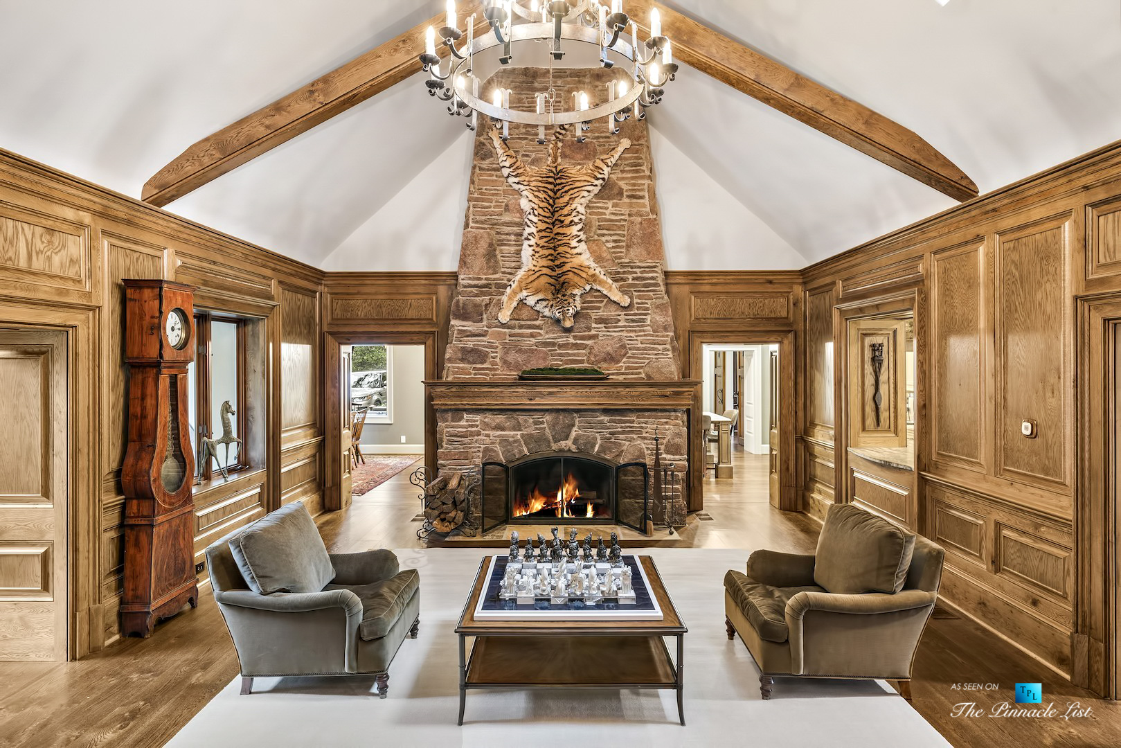 75 Finch Forest Trail, Atlanta, GA, USA – Living Room Fireplace – Luxury Real Estate – Sandy Springs Home