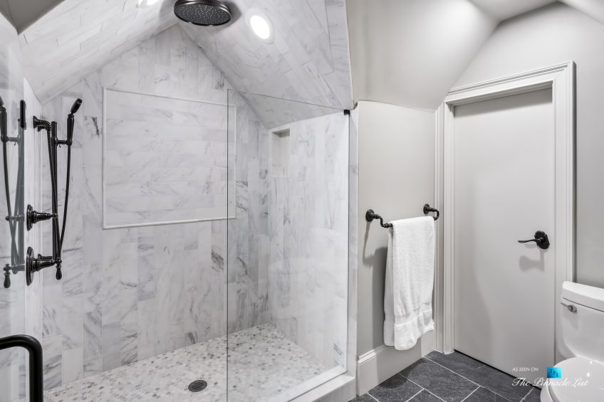 75 Finch Forest Trail, Atlanta, GA, USA - Bathroom Marble Shower - Luxury Real Estate - Sandy Springs Home