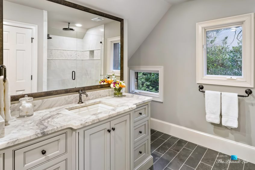 75 Finch Forest Trail, Atlanta, GA, USA - Bathroom and Marble Shower - Luxury Real Estate - Sandy Springs Home
