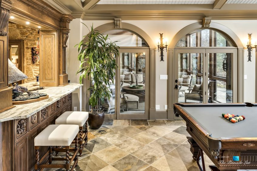 75 Finch Forest Trail, Atlanta, GA, USA - Bar and Entertainment Room - Luxury Real Estate - Sandy Springs Home