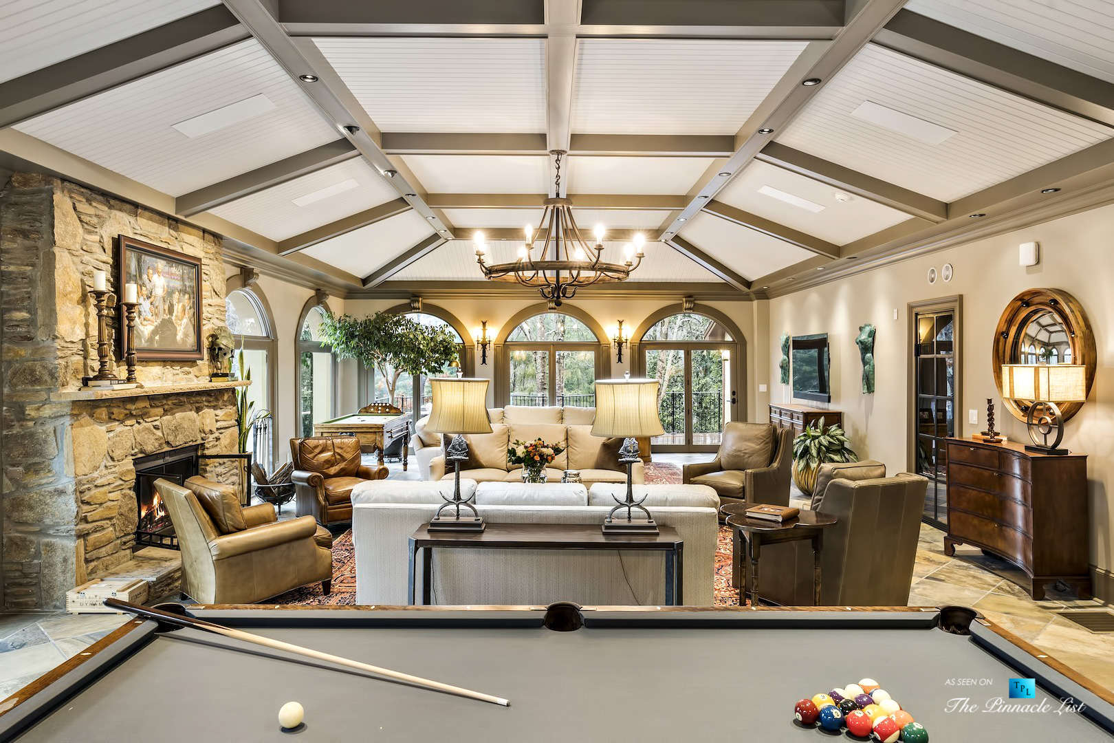 75 Finch Forest Trail, Atlanta, GA, USA – Entertainment Room – Luxury Real Estate – Sandy Springs Home