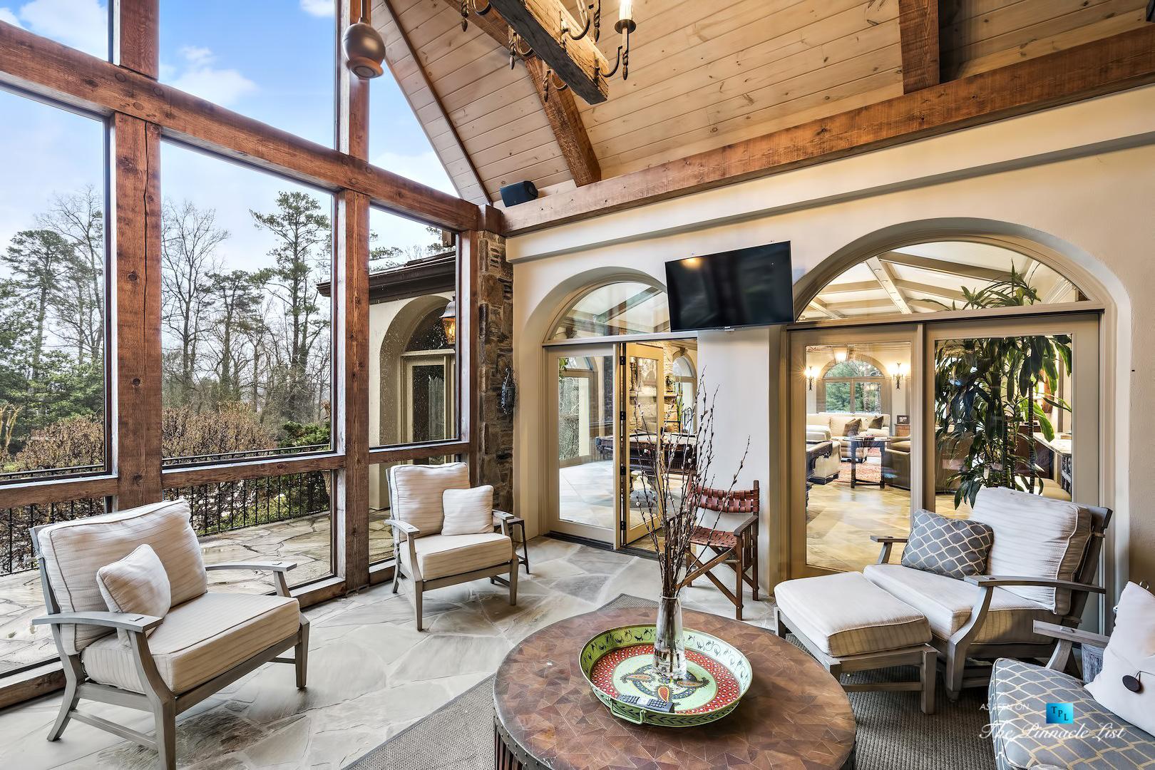 75 Finch Forest Trail, Atlanta, GA, USA - Sun Room - Luxury Real Estate - Sandy Springs Home