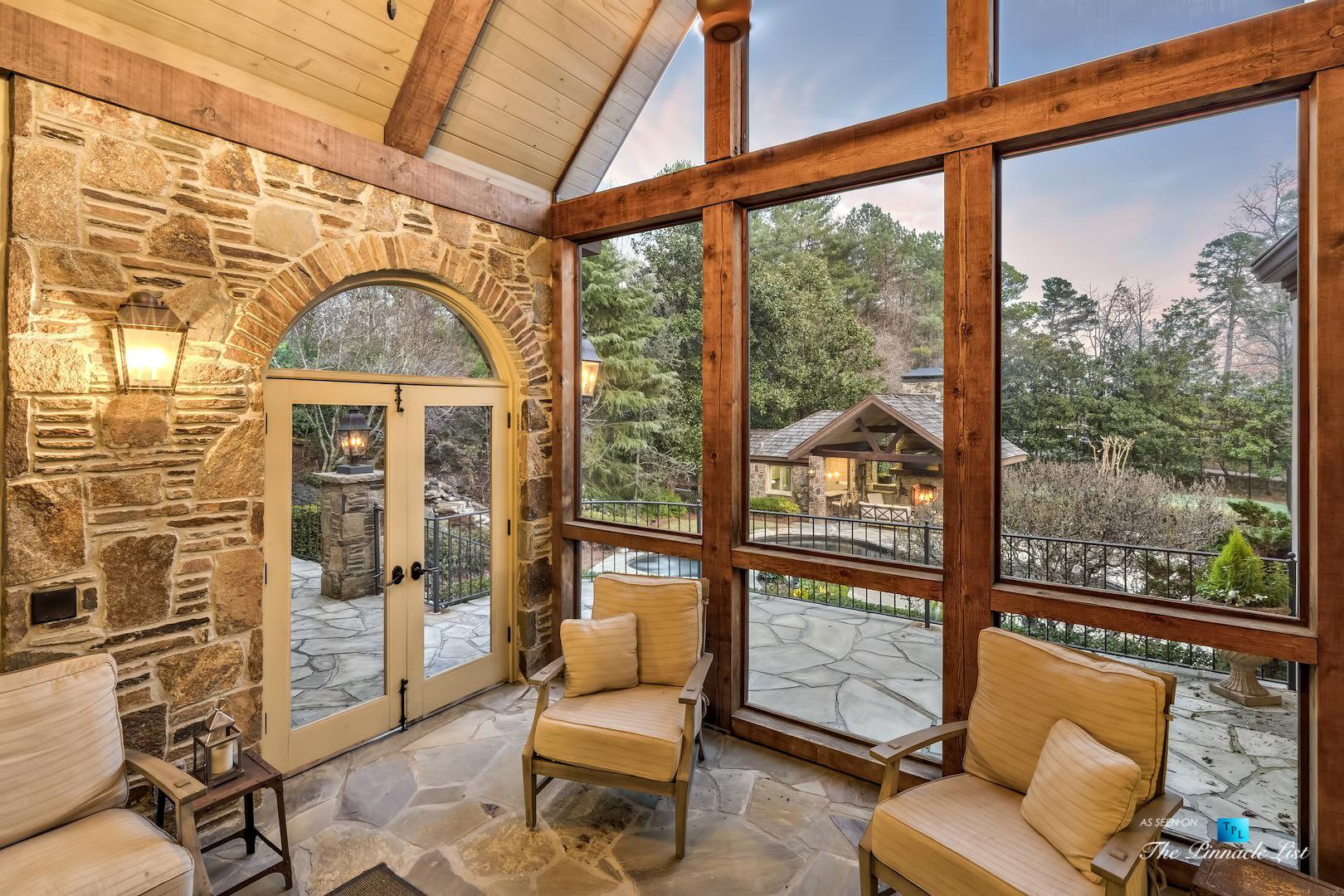 75 Finch Forest Trail, Atlanta, GA, USA – Sun Room – Luxury Real Estate – Sandy Springs Home